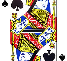Queen of Spades Playing Card Sticker by ukedward