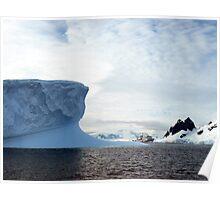 Iceberg & Icebreaker  Antarctica Poster