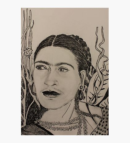 Frida Pen and Ink Photographic Print