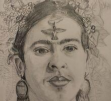 Frida With Humming Bird by bohemianartist