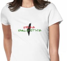 FREE PALESTINE! Womens Fitted T-Shirt