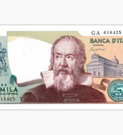 Italian 2,000 Lira Banknote Sticker Sticker