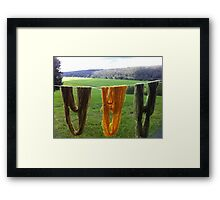 Hang it ! fibre Framed Print