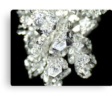 Pure Silver As Crystal Canvas Print
