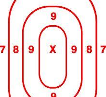 Shooting Body Target Sticker by ukedward