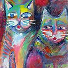 Cheeky cats by Karin Zeller