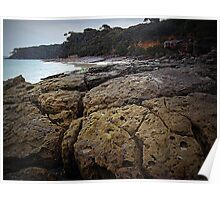 Rocky Shores - Nelson's Beach Poster