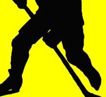 Ice Hockey Yellow Diamond Warning Road Sign Sticker Sticker