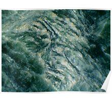 Ridges in Green Poster