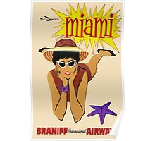Miami funny, geek, couples, sport, cool Poster