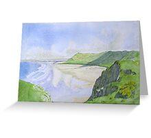 Rhosilli Bay , Gower (1) Greeting Card