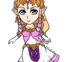 Princess Zelda Colored Version by TrafalTheLaw