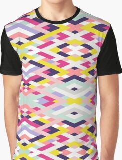 Smart Diagonals Blue Graphic T-Shirt