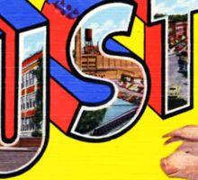 Greetings From Austin Minnesota Vintage Postcard Sticker