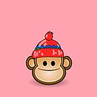 Cute Monkey wearing Beanie iPod iPhone Case by &#x27;Customize My Minifig&#x27; by Chillee