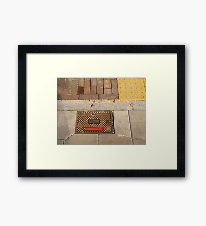 Covered - Fire hydrant in the sun Framed Print