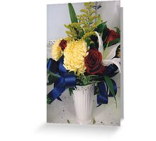 a jesus presidential vase - art deco roman and hebrew incluense Greeting Card
