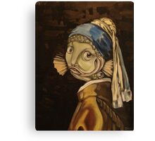 Fish With a Pearl Earring Canvas Print