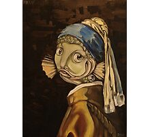 Fish With a Pearl Earring Photographic Print