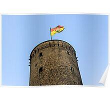 Tower & Flag, Bonn Bad Godesberg, NRW, Germany. Poster