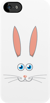 Rabbit iPhone case by Mark Walker