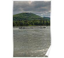 River Rhine & Petersberg, Königswinter, NRW, Germany. Poster