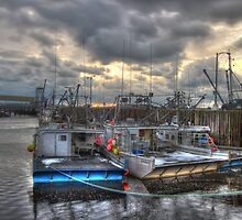 Yarmouth Marginal Warf HDR winter scene by Shawn Bourque