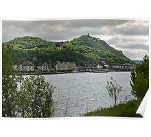 River Rhine & Drachenfels, Königswinter, NRW, Germany. Poster