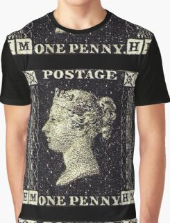 British Penny Black Postage Stamp Graphic T-Shirt