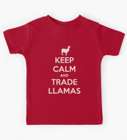 Keep calm and love llamas Kids Tee