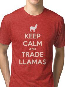 Keep calm and love llamas Tri-blend T-Shirt