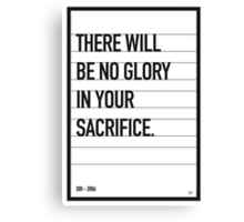 My 300 Movie Quote poster Canvas Print