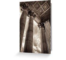 wren's corinthian columns Greeting Card