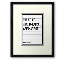 My Maltese Falcon Movie Quote poster Framed Print