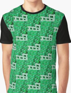Green Architecture Abstract - iPhone Case Graphic T-Shirt