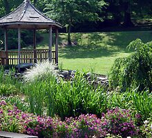 Rose Garden And Gazebo by Carolyn  Fletcher