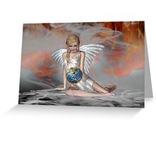An Angel Weeps Greeting Card
