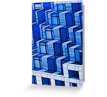 Blue Architecture Abstract - iPhone Case Greeting Card