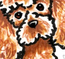 Apricot Toy Poodle :: Its All About Me Sticker