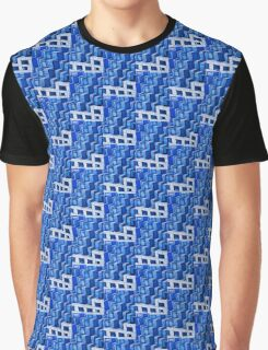 Blue Architecture Abstract - iPhone Case Graphic T-Shirt