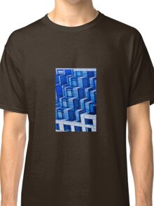 Blue Architecture Abstract - iPhone Case Classic T-Shirt
