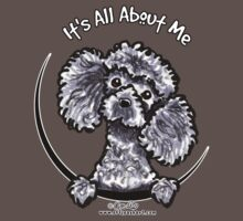 Gray Toy Poodle :: Its All About Me by offleashart