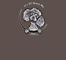 Gray Toy Poodle :: Its All About Me Womens Fitted T-Shirt