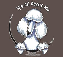 White Standard Poodle :: Its All About Me One Piece - Short Sleeve