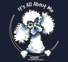 White Toy Poodle :: Its All About Me Kids Tee