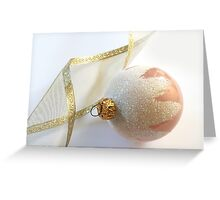 Ribbon and Orniment Greeting Card