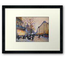 Place de la République, Paris from Eugene Galien LaLoue 1900 Framed Print