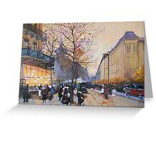 Place de la République, Paris from Eugene Galien LaLoue 1900 Greeting Card