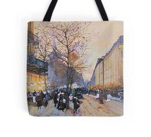 Place de la République, Paris from Eugene Galien LaLoue 1900 Tote Bag