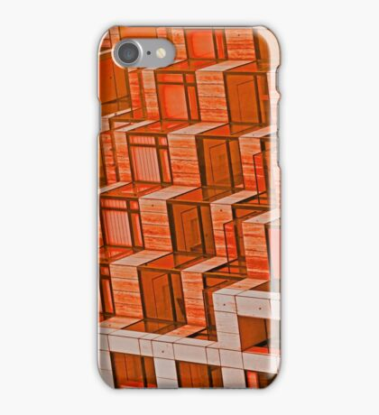 Orange Architecture Abstract - iPhone Case iPhone Case/Skin